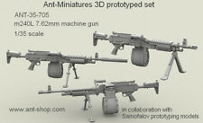 ANT Miniatures 1/35 M240L 7.62mm Machine Gun with Adjustable Butt Stock