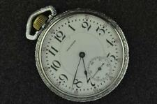 VINTAGE 16 SIZE WALTHAM 19J VANGUARD POCKET WATCH FROM 1908 RUNNING