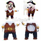 Cute Fancy Pet Cat Dog Puppy Cotton Clothes Apparel Costume Pirate Suit SZ S/M/L
