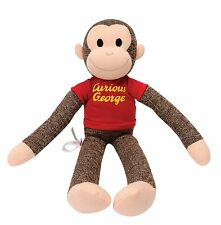 "CURIOUS GEORGE Sock Monkey 20"" Mint New Schylling Toys FREE SHIPPING"