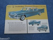 1958 Studebaker Commander Champion 4 Door Sedan Sales Brochure E2386