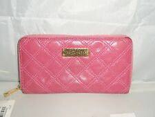 Marc Jacobs Quilted Leather Zip Around Continental Wallet, Clutch $450 Pink