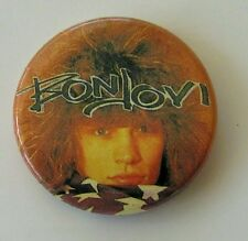 BON JOVI VINTAGE METAL BUTTON BADGE FROM THE 1980's