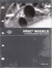 2009 Harley VRSC VRSCDX VRSCF VROD V-ROD Part Parts Catalog Manual Book 99457-09