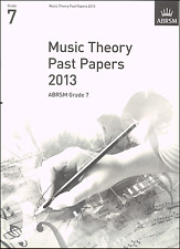 ABRSM Past Theory Of Music Exam Paper 2013 Grade 7 Sheet Music Book