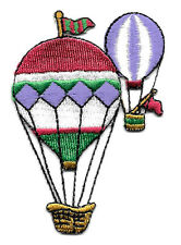 HOT AIR BALLOON EMBROIDERED IRON ON APPLIQUE PATCH