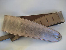 UNIQUE LEATHER GENUINE TAUPE SNAKE GUITAR/BASS STRAP