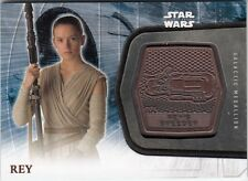 STAR WARS THE FORCE AWAKENS SERIES 2 - 14 REY BRONZE GALACTIC MEDALLION CARD
