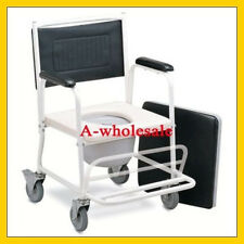 2-in-1 Shower Wheel Chair with Locking Wheels for Junior, Children and Adults