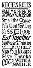 "Primitive Stencil**KITCHEN RULES**Typography Subway for Signs Large 12""x 24"""