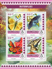 Solomon Island 2017 Butterflies Insects Butterfly S/S SLM16501