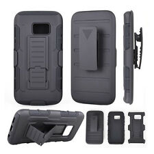 Custodia cover SLIDING RUGGED per Samsung Galaxy S7 Edge G935F clip cintura NERA