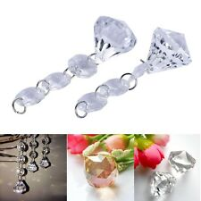 10x Acrylic Crystal Diamond Beads Garland Chandelier Hanging Wedding Party Decor