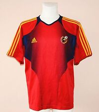 SPAIN, ESPANA, FEF, TRAINING, AFTER MATCH FOOTBALL JERSEY BY ADIDAS, LARGE 44/46