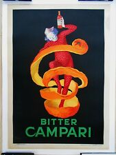 Cappiello Bitter Campari 27x38 original vintage advertising travel poster 1921