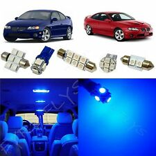 12x Blue LED lights interior package kit for 2004-2006 Pontiac GTO PG1B