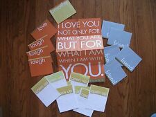 Wholesale Lot 11 Greeting Cards Convert to Posters LAUGH BREATHE FRIEND LOVE
