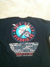 ROCK N REV CONCERT MUSIC T SHIRT 2010 GUNS N ROSES STONE TEMPLE ALICE CHAINS