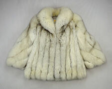 Blue SAGA FOX Vintage Soft Plush Fur Chunky Winter Coat Oversized Jacket Medium