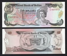 Belize $10 Dollars (1987) P48a 1st Jan 1987 - Crisp UNC