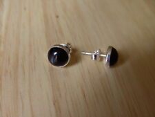 SOLID STERLING SILVER STUD EARINGS WITH  BLACK ONYX MADE BY ME.