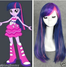 Twilight Sparkle Cospaly Wig Purple + Pink Mix Long Straight Synthetic Wigs D7