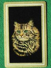 Green Eyed Striped Cat Beautiful Portrait Swap Card Art by Gladys Emerson Cook