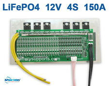 12V 14.6V 150A LiFePo4 BMS LFP LiFe PCM Battery Management System 4S 4x 3V 3.2V