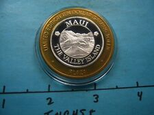 HAWAII MAUI THE VALLEY ISLAND 999 SILVER PLAZA GAMING COIN LAS VEGAS