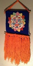 MID CENTURY NEEDLE POINT SUN FACE WALL HANGING ALEXANDER GIRARD EVELYN ACKERMAN