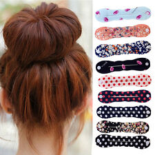 1pc Magic Sponge Clip Foam Donut Hair Styling Bun Curler Tool Maker Ring Twist