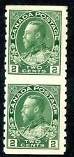 CANADA Sc# 128 Horizontally Imperfored PAIR MH-MNH VF