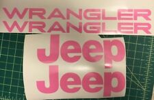 Set of Jeep Wrangler Replacement Vinyl Stickers Decals YJ TJ pick your color