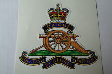 "2 X   ROYAL ARTILLERY REGIMENT  STICKERS  4"" BRITISH ARMY USA  MILITARY INSIGNIA"