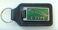 JAGUAR E-TYPE KEYRING ENAMEL BADGED LEATHER KEYRING, KEY CHAIN, KEY FOB