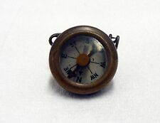OLD VINTAGE MARBLES SOLID BRASS PIN BACK COMPASS