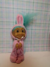 "EASTER CLIP ON BUNNY  - 3"" Russ Troll Doll - NEW - Rare"