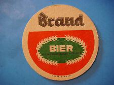 Dutch Beer Bar Coaster ~ Brand Bierbrouwerij Bier ~ Limburg, Netherlands Brewery