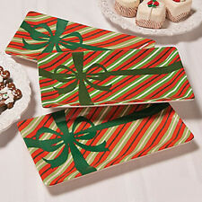 """Deluxe CERAMIC Large Christmas Serving Plate Dish Tray  NEW IN BOX 12"""" x 6-1/2"""""""