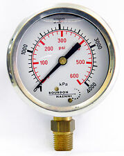 Pressure gauge 4000kpa/600psi 63mm Gauge, bottom entry
