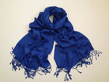 authentic pashima scarf colbalt blue EUC cashmere and silk