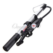 Bike Bicycle Air Pump Tire Aluminum Alloy with Pressure Gauge Presta Shrader