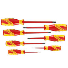 Gedore 1000V VDE Electricians Screwdriver set 7 Piece Slotted & Phillips