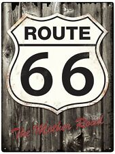 Route 66 - Tin Metal Wall Sign