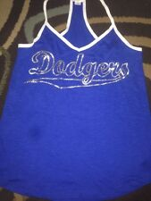 Victorias Secret Pink BLING LA Dodgers Racerback Tank Top Tee Shirt M Nwt