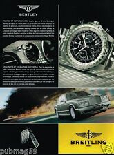 Publicité advertising 2006 La Montre Breitling Bentley