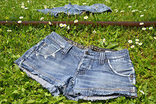 G-STAR Womens Vtg Denim Hot Pants Jeans Shorts Custom Re-worked Cut off sz12 Q37