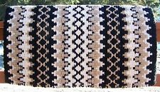 Arroyo Seco Show Blanket - 38x34 (Black Base/Cream and Sand Accents) by Mayatex