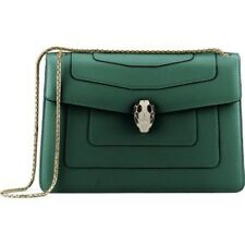 BULGARI Serpenti Leather Crossbody Shoulder Bag
