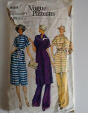 Vintage 70's Vogue Pattern 9459 Kaftan Top Tunic Dress Beach Cover Up and Elasti